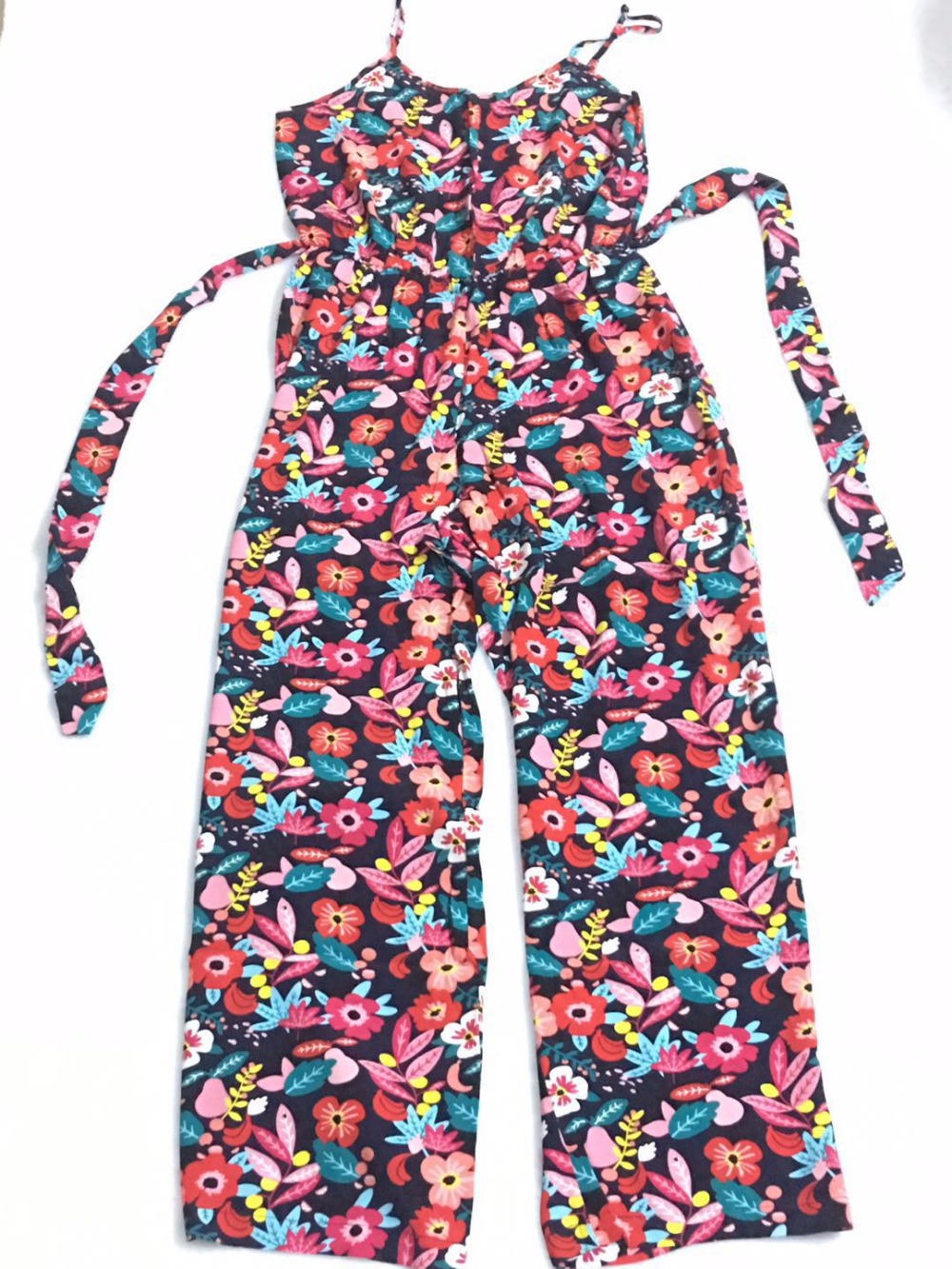 fashion summer colourful combi pantalon simona positano Jumpsuits thin straps elasticated waistband with belt
