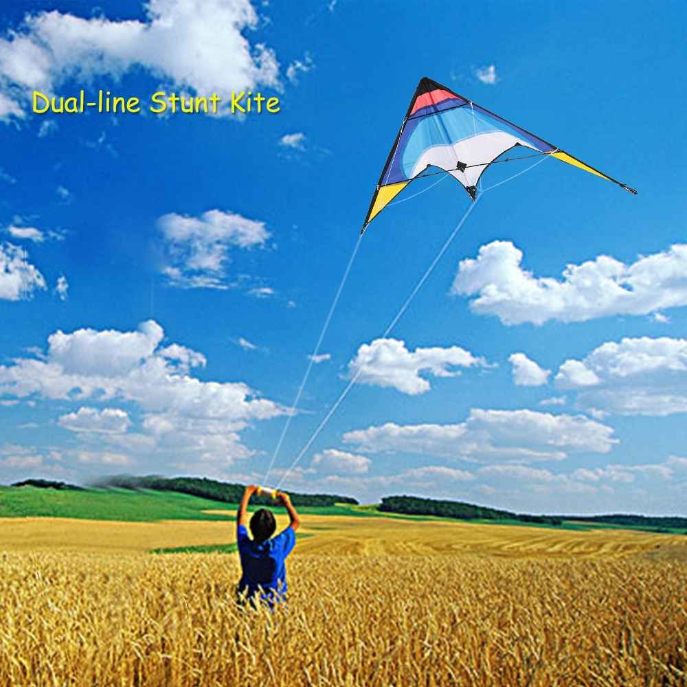 ผู้ใหญ่ 1.3 M Kite Double Stunt Kite Double Kite เฟรม Glassfiber Kite Novice Beginners FLYER East ประกอบ