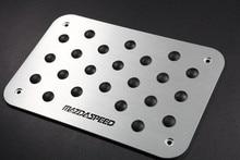 Aluminum Alloy Carpet Pedal Pad Non-slip Fit For Mazda Floor Mat For Racing Car