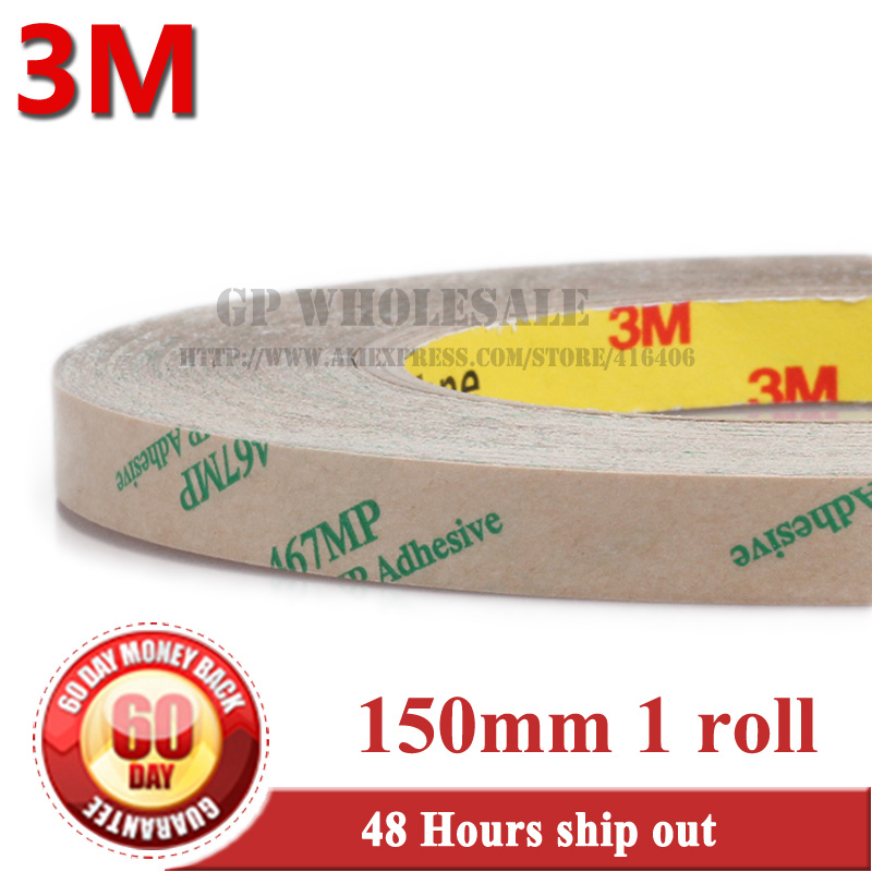 (150mm*55M), 0.06mm Thick, 3M 467MP 200MP Adhesive, Double Sided Sticky Bonding Tape, High Temperature Withstand, 3m 468mp 43mm 55m 0 13mm double sided adhesive tape 200mp metals paints wood bonding together for automotive appliance