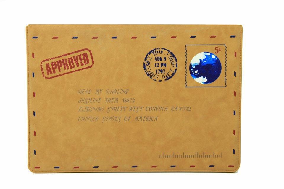 Nueva funda protectora de la manga del bolso del sobre de cuero retro - Accesorios para laptop - foto 2