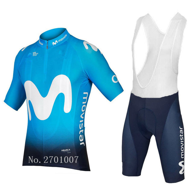 bf1034097 2018 EUROPE TOUR movistar team Spanish Professional champion ciclismo ropa  ciclismo cycling jersey High-quality Customizable