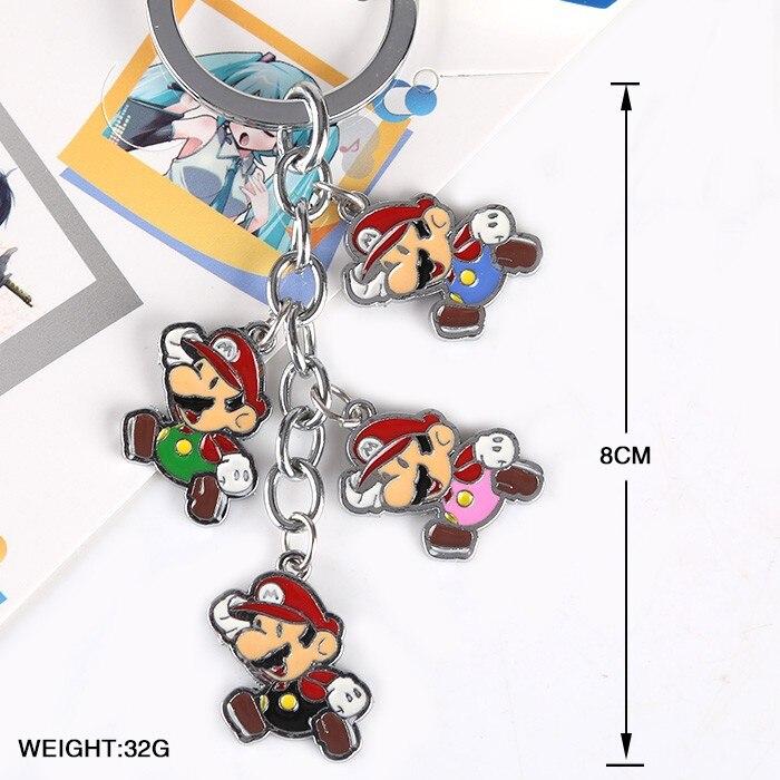 Super Mario Bros Toys keychains Dolls Keychain Alloy Pendants
