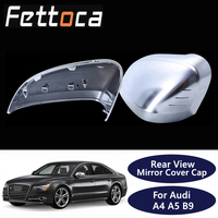 For Audi 2017 2019 A4 A5 B9 allroad Quattro S4 S5 Side Wing Mirror Cover Caps fit Audi Mirror Covers Silver Matte Chrome