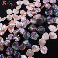 15 20mm Natural Freshwater Pearl Baroque Stone Beads Strand 14 5 For DIY Necklace Bracelets Fashion