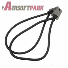 Powerful Strong 4 Strips Black Slingshots Rubber Band Durable Resilient Tube For Hunting Catapult Elastic Part Bungee Equipment