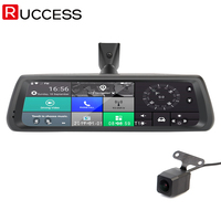 Ruccess 10 Inch 4G Rearview Mirror DVR Cameras Android GPS Navigations Full Screen Touch 1080P Wifi