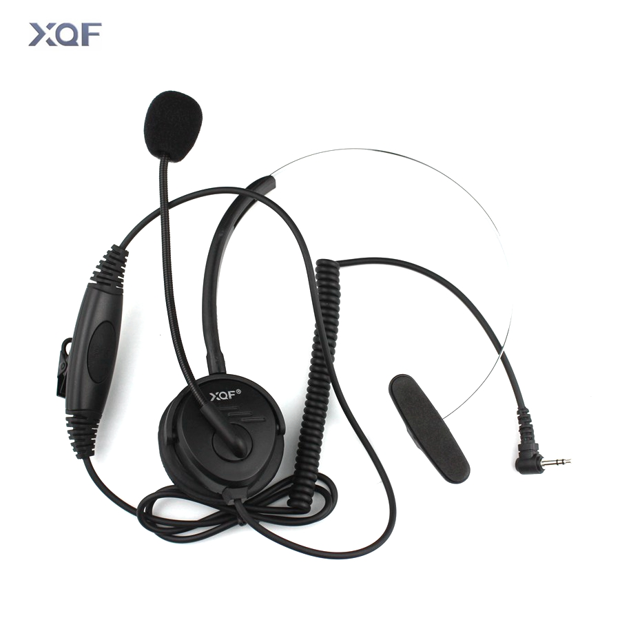 Radio Headphone Single Headset Collar PTT With Microphone For For T6200 T5300 T7618