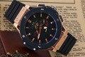 Мужчины Роскошные Спорт Розовое Золото Серебро Черный Красный Нержавеющая Сталь Автоматические Механические Черный Бамбук Каучуковый Ремешок 45 мм Классический F1 часы