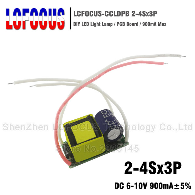 10pcs 10W LED Driver 2-4Sx3P Output DC 6-10V Current 900mA Lighting Transformer For 6W 9W Spotlights Bulb Light Floodlight