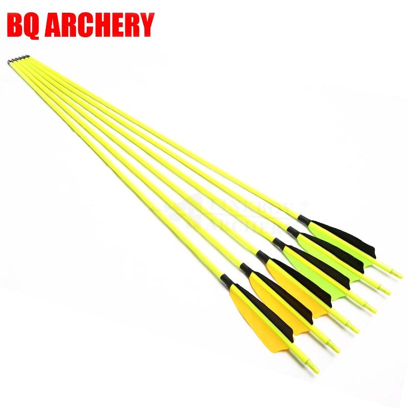 6 12 pcs mistura de tiro com arco carbono setas sp500 30 polegada 5 polegada turquia