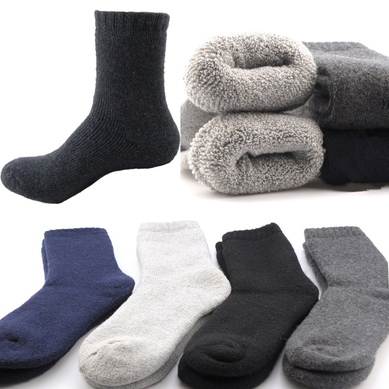 New Fashion Men's Winter Socks Wool Thicken Contain Comfortable Men Socks Resist Cold Hot Warm Socks Men Male Casual Brand Socks