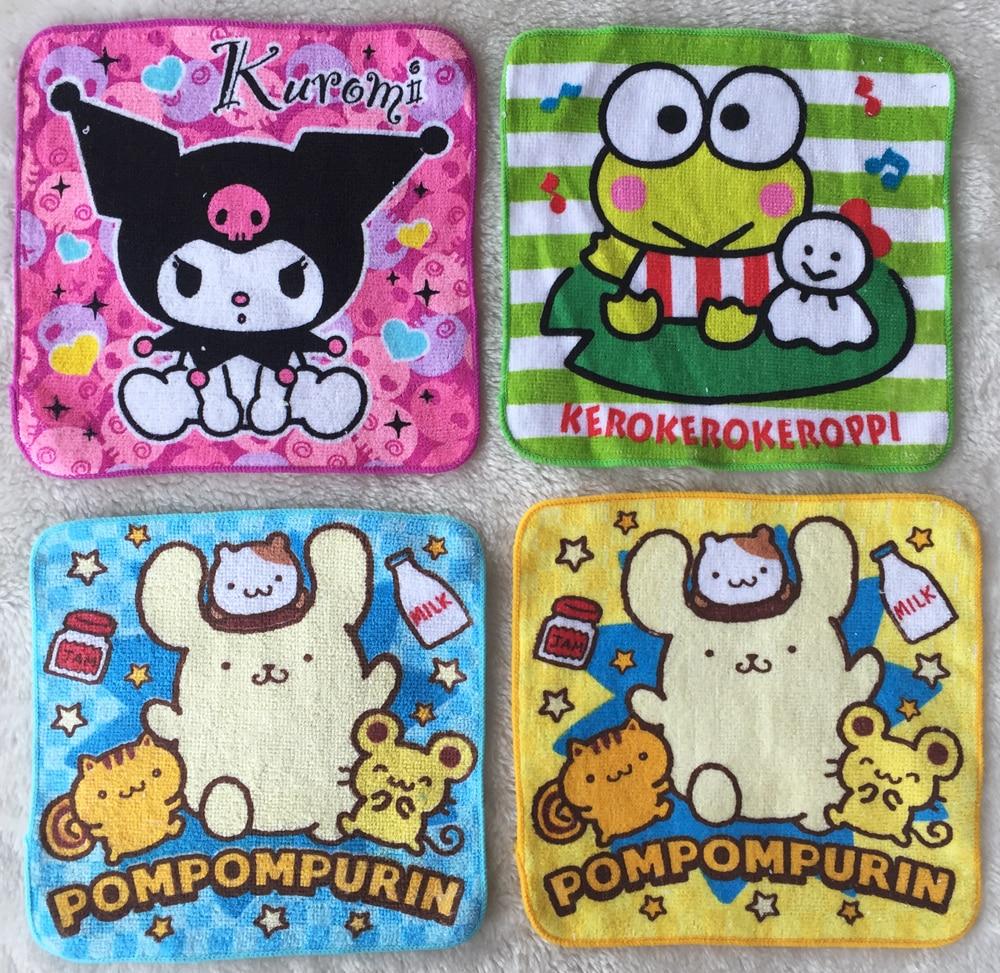 Cartoon Cute Melody Rabbit Towel Baby Handkerchief Portable Square Pocket Hanky Zakdoek Children Handkerchief Cotton Towels 20CM