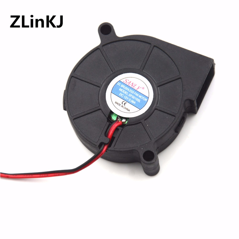 1PC DC12V 0.06A Cooling Turbine Blower Fan SF5015SL 50*50*15mm Snail Fan Silent Blower For Heater Dedicated 50 * 50 * 15