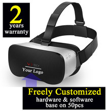 6PCS Customized 2 years warranty Smart 3D virtual reality all in one VR headset H8 Octacore 2GB/16GB Android4.4 Wifi Bluetooth