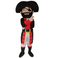 Pirate captain cartoon mascots and shark mascot costumes cosplay for adult