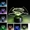 Boy gift Kid sleep Light LED Stereo Light Touch Superman Gradient 3D Lamp Creative  Best Child Baby Toy Gifts Present