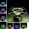 Presente do menino Kid sono Luz LED Lâmpada Leve Toque Superman Gradiente 3D Estéreo Criativo Melhor Presentes Do Brinquedo Do Bebê Criança Presente