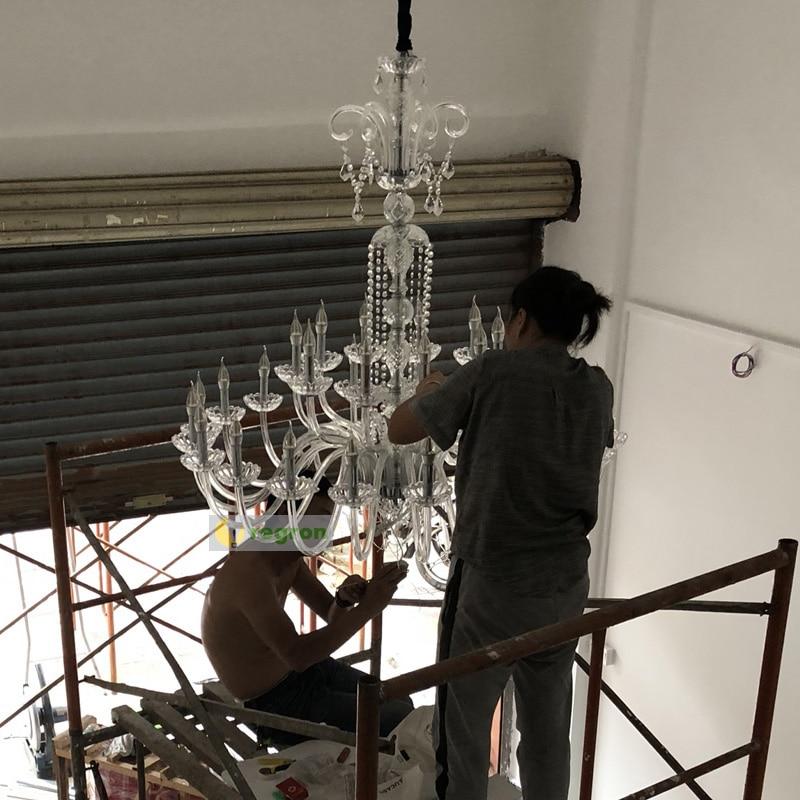 Large 30-light Church Chandelier led Candelabro crystal pendant hotel - Indoor Lighting - Photo 4