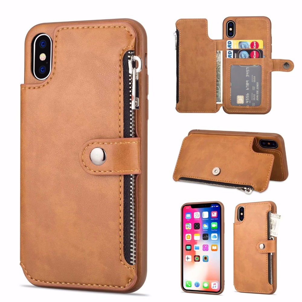 PU Leather phone Cases For iPhone X 6 6s 7 8 Plus Multi
