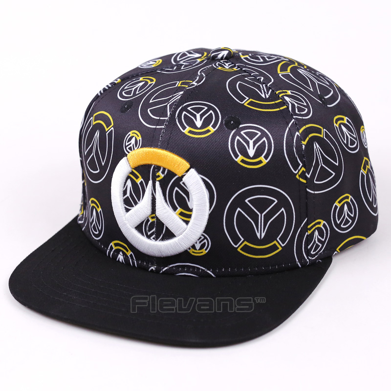 Hot Game OW Logo Print Baseball Snapback Caps Summer Sun Hats Adjustable Hip-hop Caps For Men Women