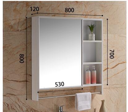 Space aluminum bathroom lens ark with towel rack. Camera hanging store content ark