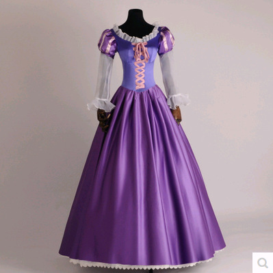 The Princess Rapunzel Fancy Dress Adult Costumes for Halloween/Carnival Party Tangled Cosplay Costumes for Women Custom Any Size
