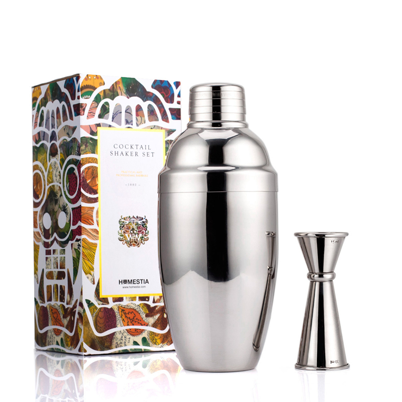homestia japanese style 550ml stainless steel cocktail shaker set martini mojito mixer shaker. Black Bedroom Furniture Sets. Home Design Ideas