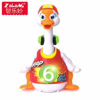 High Quality 3 Colors Intelligent Dance Goose For Children Kids Interactive Swing Goose Musical Educational