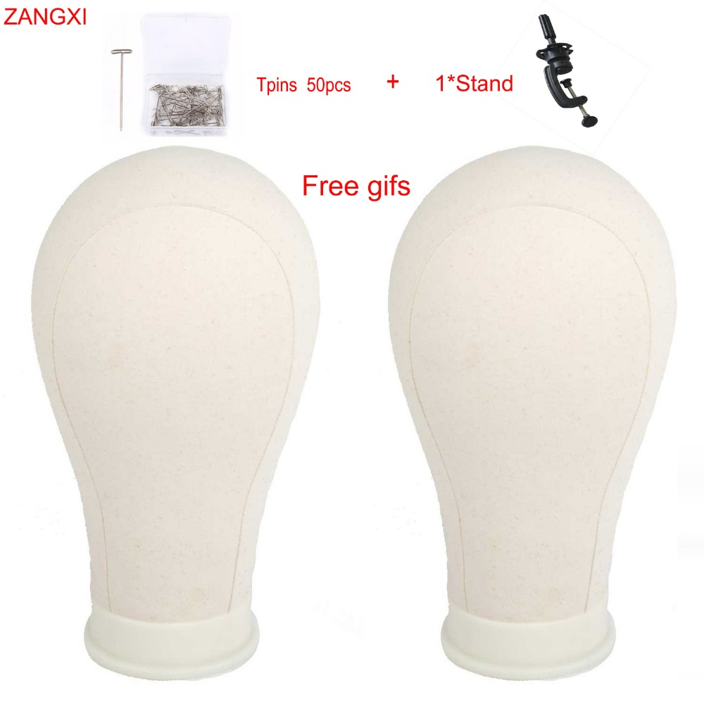 """21"""" 22"""" 23"""" 24"""" 25"""" Canvas Head Block Manikin Model For Hair Extension Toupee Lace Wig Making Styling Training Mannequin Head"""