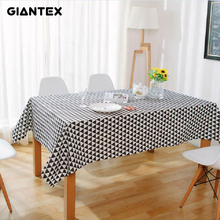 GIANTEX Triangle Pattern Decorative Table Cloth Cotton Linen Tablecloth  Dining Table Cover For Kitchen Home Decor U1002