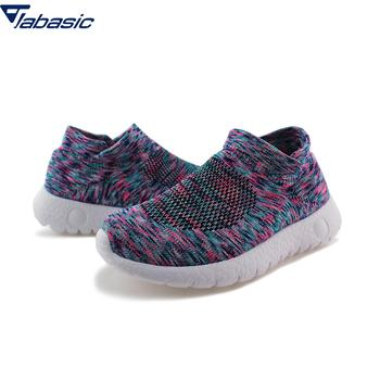Jabasic Knitted Breathable Sneakers Kids 2019 Walking Shoes Boys Girls Breathable Slip On Knit Sock Sneakers Sport Shoes Boys slip-on shoe