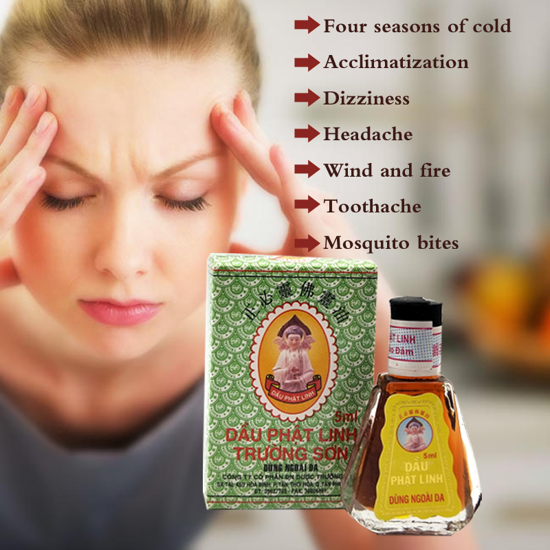 Natural Herbal Buddha Ointment Oil Treatment Of Headache, Toothache And Other Anti-mosquito Bites