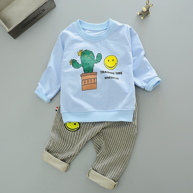 2017 spring baby boy girl clothes Long sleeve T-shirt + pants 2pcs sport suit baby clothing set newborn roupas de bebe summer baby boy clothes set cotton short sleeved mickey t shirt striped pants 2pcs newborn baby girl clothing set sport suits