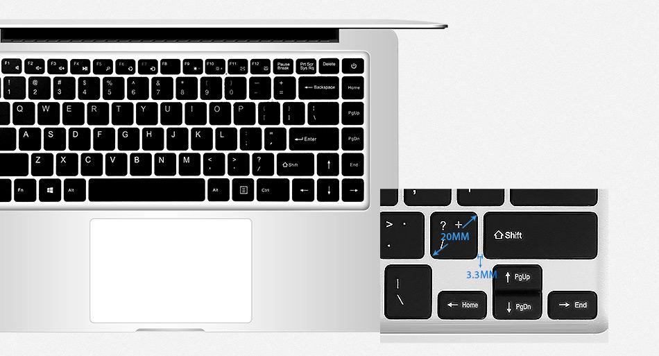 Jumper EZbook 2 A14 Laptop 14.1 Inch Windows 10 Ultrabook 1920 x 1080 FHD Display Intel Cherry Trail Quad Core Z8300 4GB RAM 64GB eMMC ROM Bluetooth Ultraslim Notebook Computer (13)