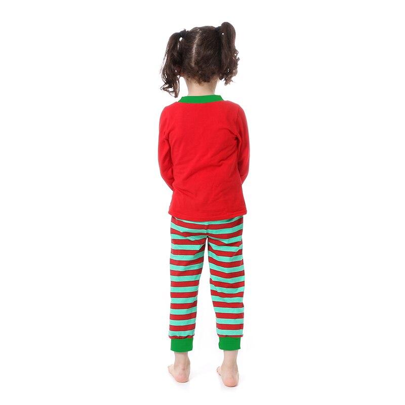 Kaiya Angel Christmas Girls Boutique Outfits Christmas Clothing Set Red Green Green Stripe Shirt Leggings Suit 2 Pcs Pajamas 4