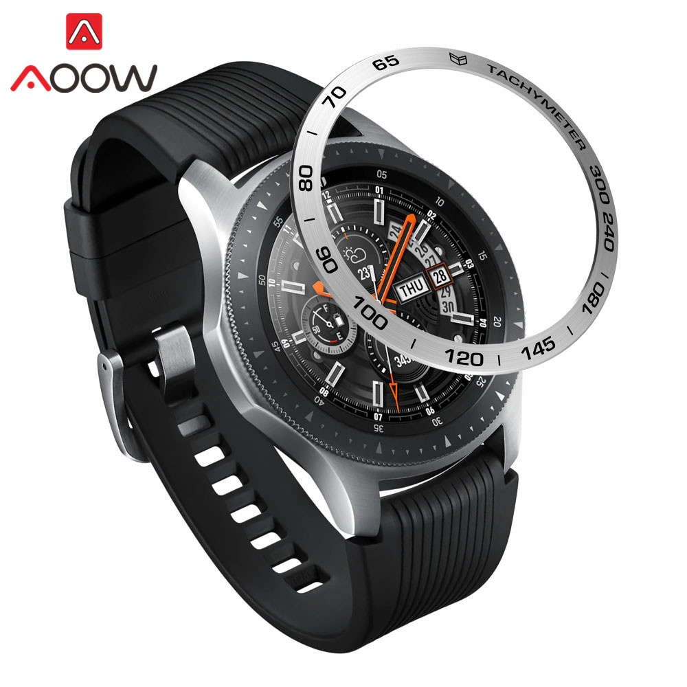 Stainless Steel Bezel Ring Styling for Samsung Gear S3 Frontier Galaxy Watch 42mm 46mm Adhesive Cover Protection Accessories