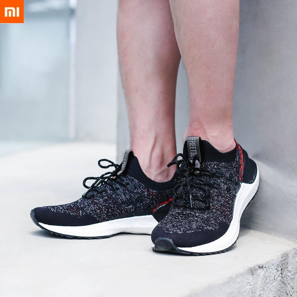 2019 Xiaomi Mijia FREETIE Cloud Shell Shock Absorbing Sport Shoes 2 Fishbone Locking Support ETPU Smart Sport Shoes Dropship