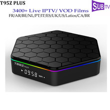 Subtv IPTV French T95Z Plus Android Set Top Box 3GB 32GB Bluetooth Belgium Portugal Arabic Italy Albania IP TV Channels Boxes(China)