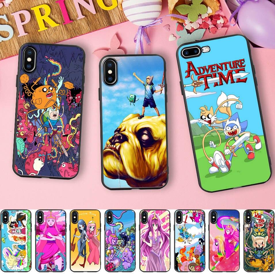Minason ВМО Джейк принцесса чехол для iPhone 6s корпус время приключений Мягкий силиконовый чехол для iPhone X 7 5 5S SE 6 8 plus Coque