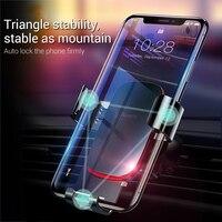 Baseus Car Phone Holder 360 Degree Rotation Car Air Vent Mount Universal Gravity Mobile Phone Holder For iPhone Car Holder