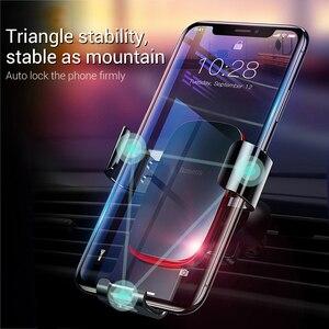 Image 2 - Baseus voiture support de téléphone 360 degrés Rotation voiture évent montage universel gravité support de téléphone Mobile pour iPhone support de voiture
