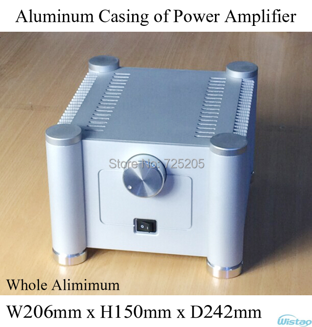 Casing of Power Amplifier Whole Aluminum Tube Amp Chassis with Accessories Stereo HIFI Audio DIY Sandblasting White iwistao hifi amplifier 2x100w transistor power amp 2sa1216 2sc2922 burmester fully symmetric dc coupled whole aluminum chassis