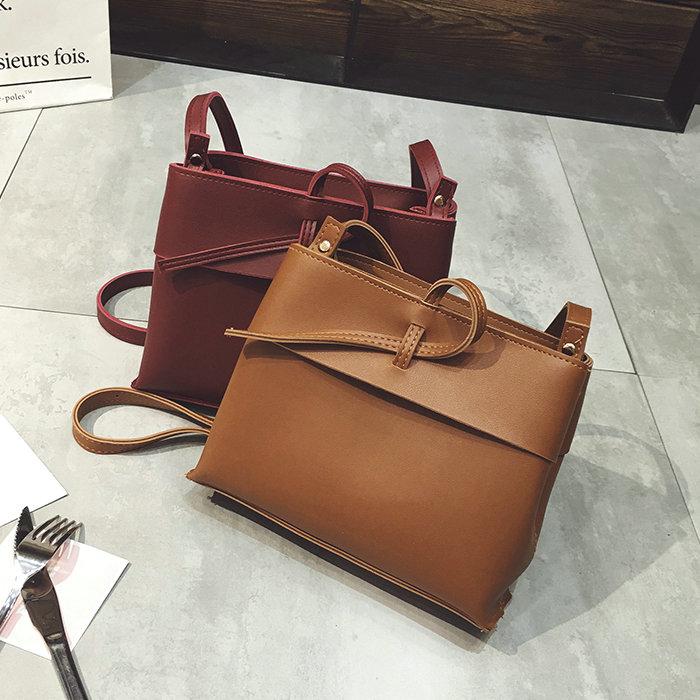 Sacs à main sac à bandoulière Messenger dépoli coréen mode tendance sac paquet petit carré, brun clair