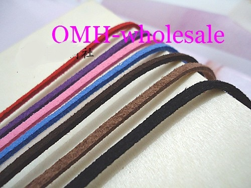 OMH wholesale 5M 5strip each long 1M Jewellery making tool Soft velvet Korea frosting Cord Thread For Diy Bracelet Necklace ...