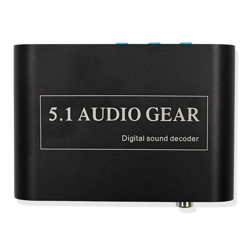 1 PCS New Digital Audio Decoder 5.1 Audio Gear DTS/AC-3/6CH Digital Audio Converter for XBOX360 PS3 Laptop Blue-ray DVD new digital 6 30