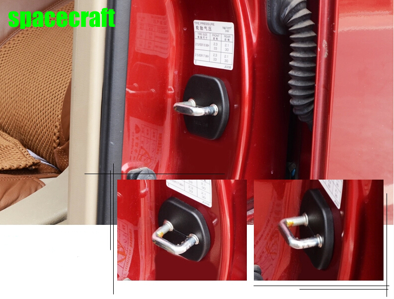 Auto door lock buckle cover door lock pad for Nissan Qashqai x-trail teana juke ,4pcs/lot,car accessories