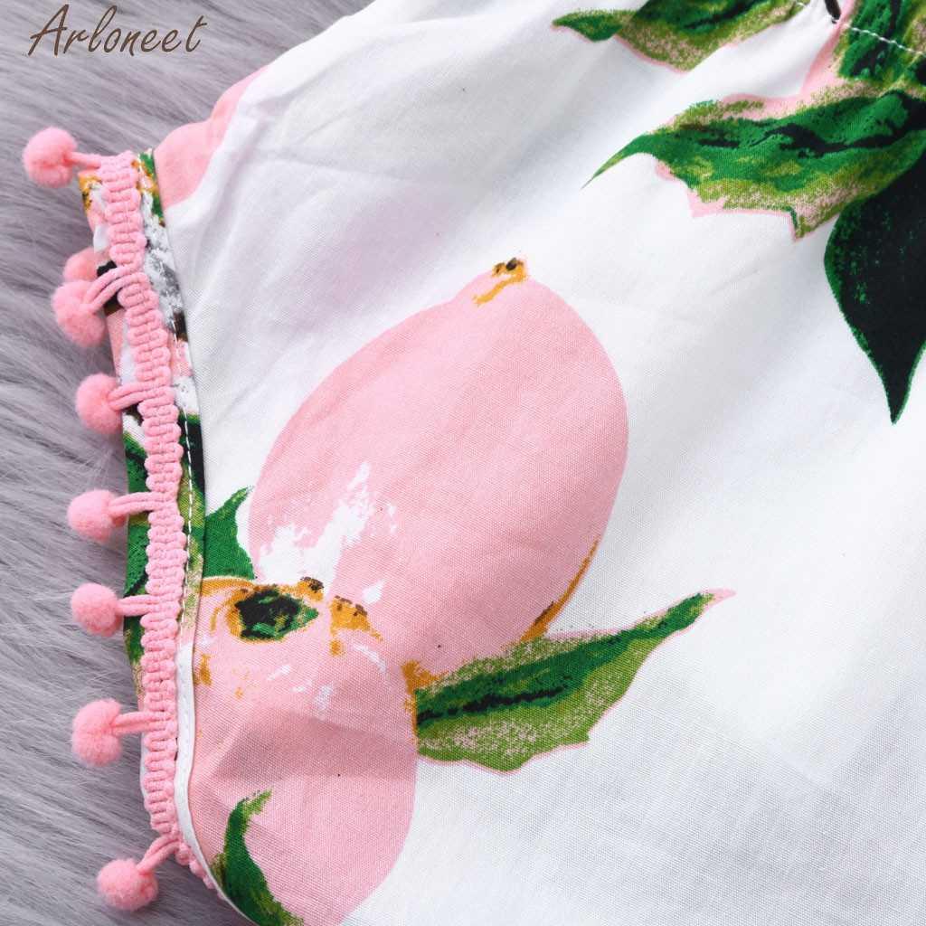 ARLONEET Infant Baby Boys & Girls mono sin mangas estampado de melocotón Macacao Bodysuit blusas de verano Dropshipping 2019Apr22 P35