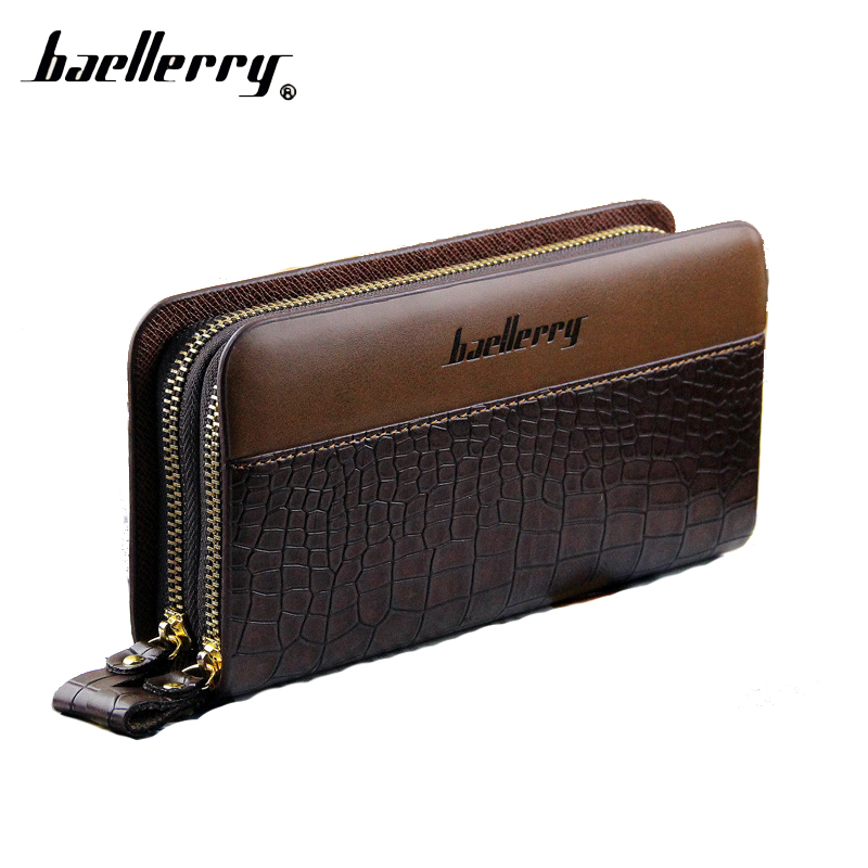 Baellerry Luxury Long Phone Handy Clutch Men Wallet Male Coin Purse Money Bag Cuzdan For Card Baellery Wristlet Portomonee Walet