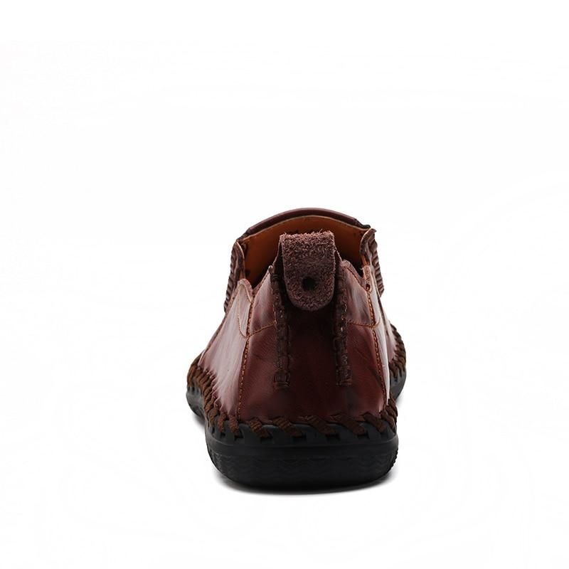 Casual Mens pantofi loafers pantofi autentic de vacă din piele - Pantofi bărbați - Fotografie 4